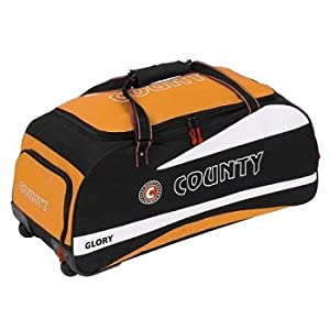 Hunts County Glory Wheeled Holdall (Orange/Black) from Hunts County