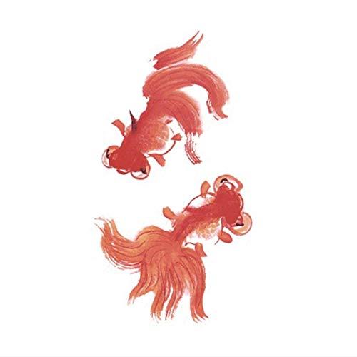 ne Tätowierung Wasserdicht Tattoo Sticker Body Art Chinese Painted Goldfish Fake Tattoo Mann Frau ()