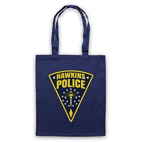 Inspire par Stranger Things Hawkins Police Badge Logo Officieux Sac d'emballage Bleu Fonce