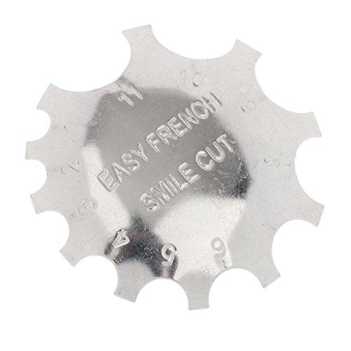 Profi Edelstahl Randabschneiders Französisch Tief C Lächeln Linie Werkzeug (Französische Nagel-designs)