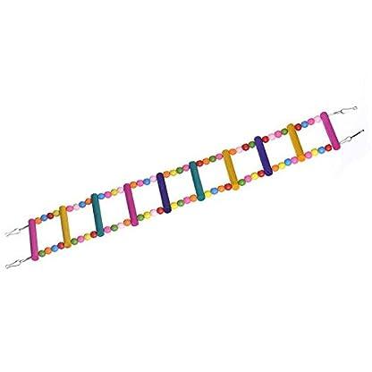 Rope Ladder Rainbow Bridge Bird Toy 27 Inch 4