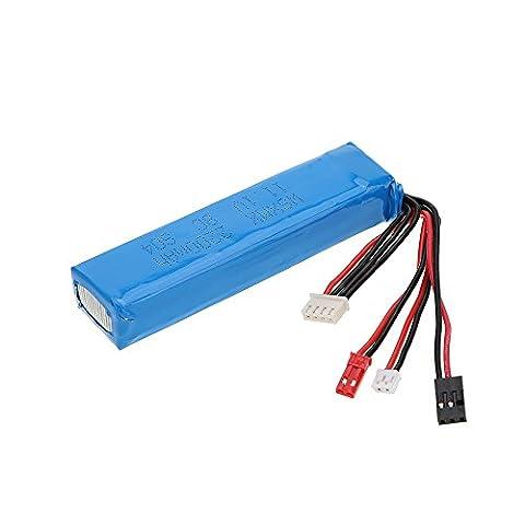 GoolRC 11.1V 2200mAh 8C 3S Lipo Batterie 3 Connecteur pour JR Futaba Walkera Radiolink Transmetteur