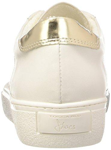 Tosca Blu Corniola, Baskets Basses femme Blanc - Weiß (BIANCO C00)
