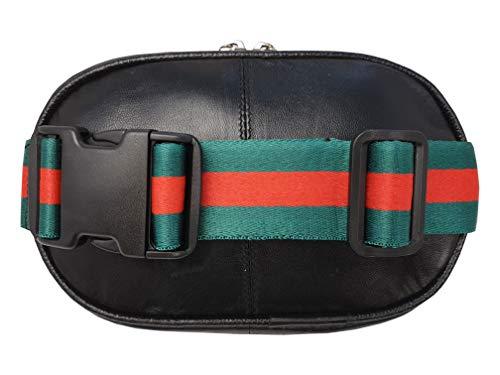 Roamlite RL167GU Designer-Gürteltasche aus Echtleder, abnehmbar als Umhängetasche oder Bauchtasche bis zu 127 cm