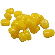 VANKER 50pcs / suave de la simulación artificial de maíz sabor de la carpa Bream cebos señuelos de pesca - Amarillo