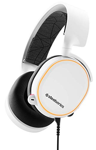 SteelSeries Arctis 5 - Gaming Headset - RGB-Beleuchtung - DTS Headphone:X v2.0 Surround für PC und PlayStation 4 - Weiß [2019 Edition]