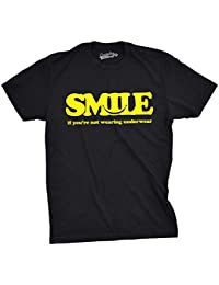 Crazy Dog T-Shirts Mens Smile Not Wearing Underwear Funny T Shirts Hilarious Retro Novelty T Shirt - Camiseta Divertidas