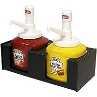 Handsome condimento Holder para Heinz mostaza y Ketchup # bombeada 10 jarras. Ideal para tiendas