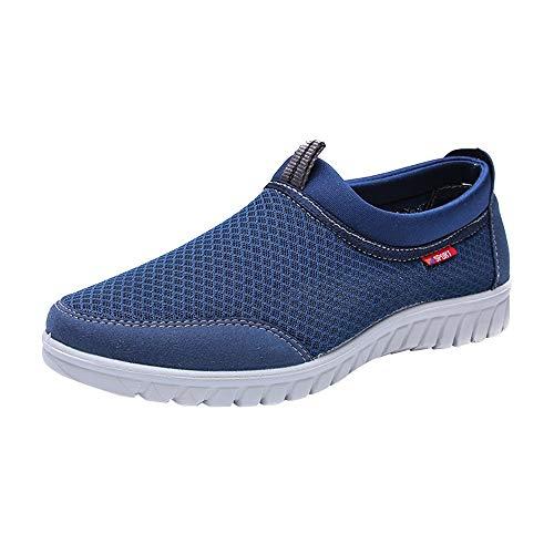 YU'TING - Scarpe da Corsa Uomo Senza Lacci Running Sportivo Moda Scarpe in Mesh Antiscivolo Leggere E Morbide Scarpe Casual Scarpe Traspiranti Comode Sneaker