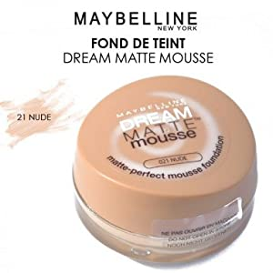 Maybelline Dream Matt Mousse Foundation - 021 Nude