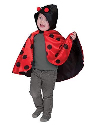 Luxuspiraten - Kinder Jungen Mädchen Kostüm Umhang im Marienkäfer Maikäfer Stil, Ladybug Cape, perfekt für Karneval, Fasching und Fastnacht, 98-116, Rot (Pet Marienkäfer Kostüm)