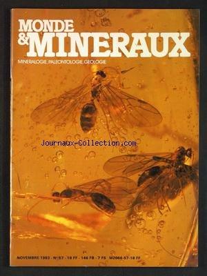 MONDE ET MINERAUX [No 57] du 01/11/1983 - MINERALOGIE - PALEONTOLOGIE ET GEOLOGIE