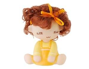 Mignon superbe Bobble Head Doll Toy Car (jaune)