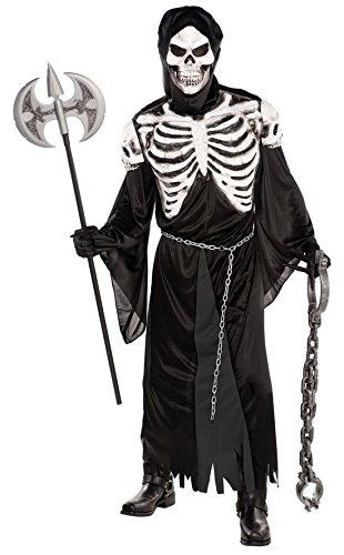 erdbeerloft - Herren Gruftwächter Kostüm- Skelett-Verkleidung, Schwarz, Größe (Kostüme Partner Für Jungs)