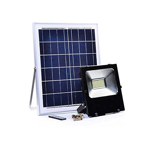 takestop® Faro FARETTO LED 8800 da Esterno 100W 6500k Bianco Freddo con Telecomando Pannello Solare FOTOVOLTAICO ENERGIA Solare Sole LUCI