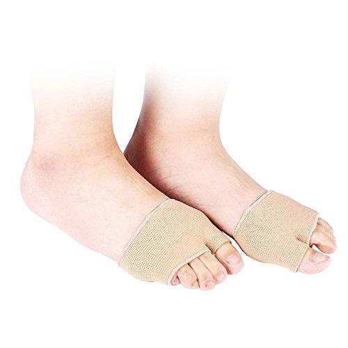 Orthetische Einlegesohlen, Gel-Zehenschutzhülle, 1 Paar weiche Silikon-Gel-Korrekturbogenauflagen, Mittelfuß-Schmerzlinderung Vorfuß-Schock Druckentlastung Schutz Füße Pflege(L) -