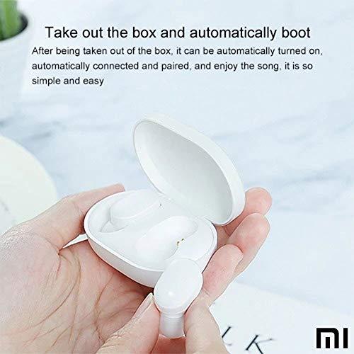 Xiaomi Mi Airdots Kabellose Kopfhörer, Bluetooth 5.0 - automatische Verbindung (Stereo) 12h Geräuschunterdrückung, Touch-Tasten, tragbares Ladegerät, CE-Zertifiziert (iOS & Android) weiß - 4