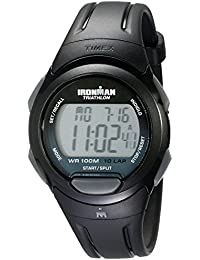 Timex Ironman Unisex T5K608SU Quartz Sport Full-size Watch with Black Dial Digital Display and Black Resin Strap