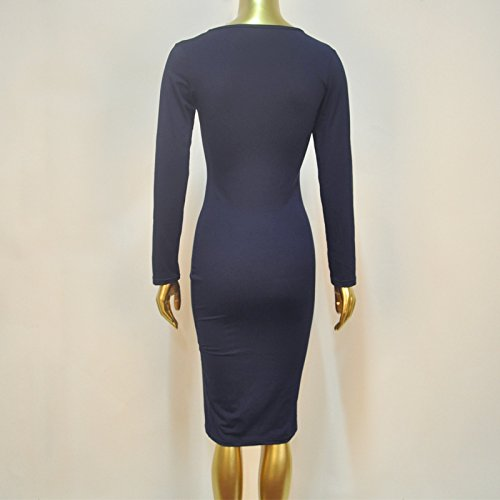 Hqclothingbox Damen Kleid Navy