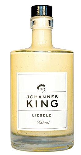 Liebelei *das Original* 500 ml mit NUR 7{c3da4eb54da0c1ce922ef437db5eb66ef9763f2331406fca71dd593ce0ce23da} Alkohol, mit viel Sahne, Eiern, frischer Vanille und Rum - perfekt als Eis-Sauce oder Vanillesauce von Sternekoch Johannes King - SAHNIG MILD LECKER