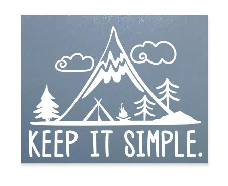 Keep It Simple???Pin Trip montagnes aventure Famille, enfants, sport, vinyle Stickers pour voiture fen?tre Autocollant pour ordinateur portable Autocollant C?ur D?cor Home Live enfants Funny Art mural Decal Stickers