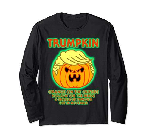 Kostüm Donald Trumpkin - Halloween Trumpkin Funny Donald Trump Kürbis Politische Meme Langarmshirt