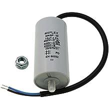Condensador de motor 16µF 450V 40x78mm Cable M8 ; Miflex ; 16uF