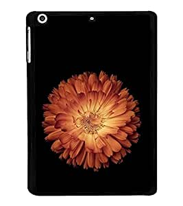 FUSON Orange Lotus Black Background Designer Back Case Cover for Apple iPad Mini 3 :: Apple iPad Mini 3 Wi-Fi + Cellular (3G/LTE); Apple iPad Mini 3 Wi-Fi (Wi-Fi, W/o GPS)