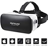 HAMSWAN VR Headset, Virtual Reality Headset, 3D Glasses, VR Goggles-for 3D VR Movies Video Games with 110°FOV for iPhone X 8 7 6 6s plus/Samsung Galaxy Series with 4.5-6.0in Screen [2019 Edition]