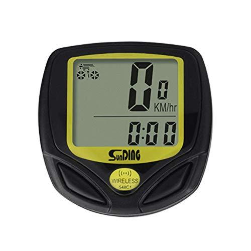 CULASIGN Fahrradcomputer Kabellos Wasserdicht Fahrradtacho LCD Fahrrad Tachometer und Kilometerzähler Geschwindigkeits