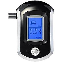 VicTsing Alcoholímetro Digital con Nano Semiconductores Sensor y LCD Digital Breath Alcohol Tester, Profesional y Exacto, Incluye 20 Boquillas Desechables
