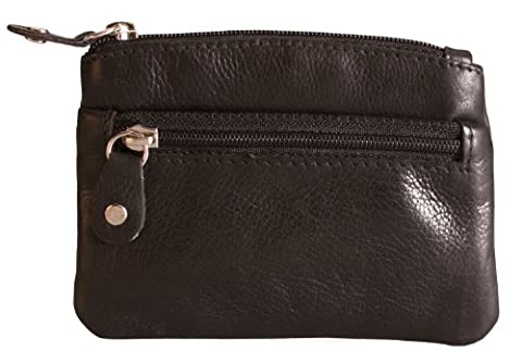 Brunhide Genuine 100% Soft Leather Coin Purse With Key Ring