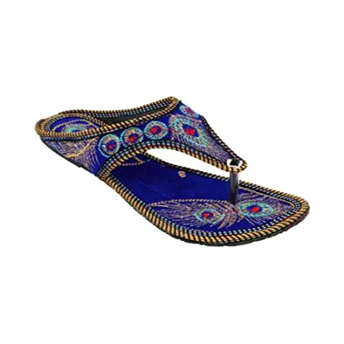 Rajwari Womens Multicolour Ethnic Footwear Handmade Indian Leather Traditional Shoes Purely Handcrafted Ethnic