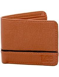 100% Genuine Leather Ultra Slim Men's Wallet-Stylish ,Trendy Brown With Black Strip ,Latest Three Fold Wallet...