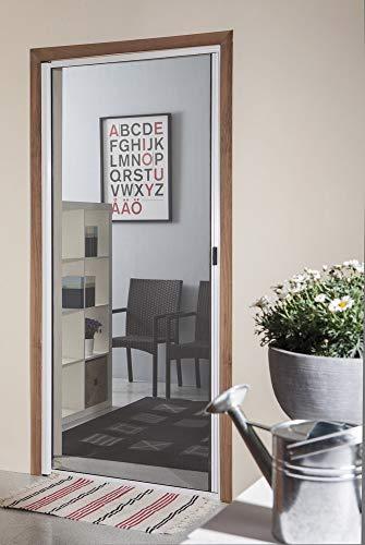 VERDELOOK Zanzariera a Rullo Orizzontale con Telaio in Alluminio per Porte. Misura 120x240 cm. Profilo Color Bronzo
