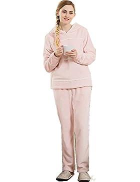 Flanella manica lunga femminile più recenti da notte ispessita pigiama vestaglia invernale che può essere indossato...