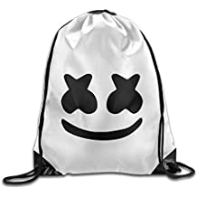 ngratyhJohn Marshmello Face Outing Package, Cool DJ Marshmello Face Print Drawstring Shoulder Bag Travel Outdoor