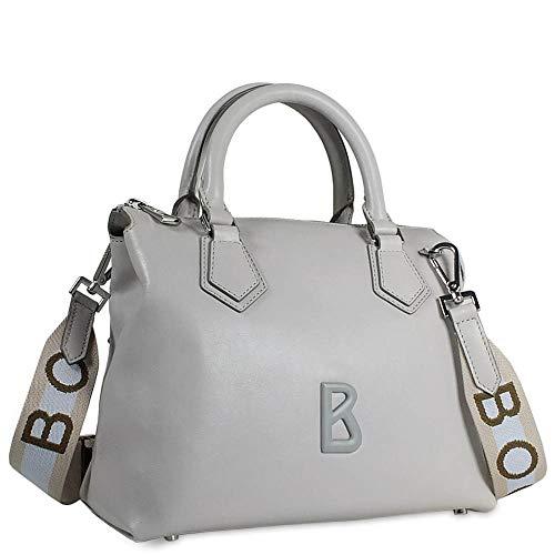 Bogner Damen Laax Frida Handbag Shz Henkeltasche, Grau (Light Grey), 14x20x26 cm