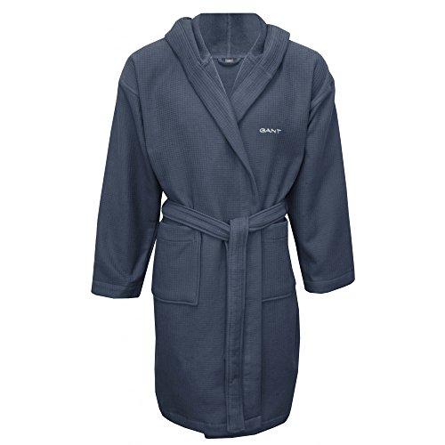 Peignoir Gant Coton Gaufre Hommes, Bleu Ardoise Grande
