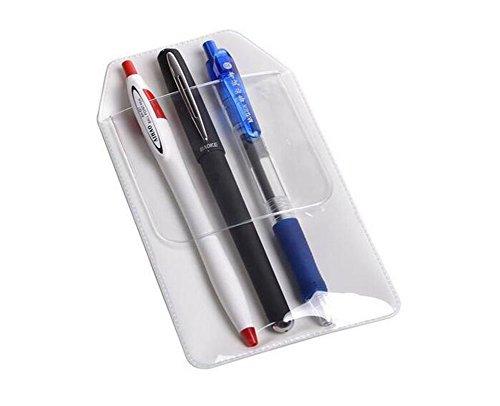6Clear Pocket Schutzfolie für Pen Pointers Badge Notizen Karten auslaufen für Krankenhaus Schule und Büro (Badge Geldbörse Geld-clip)