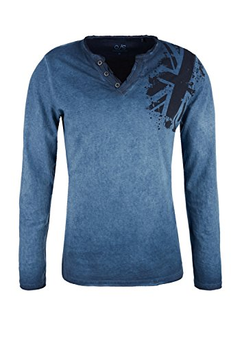 Q/S designed by - s.Oliver Herren Langarmshirt Blue