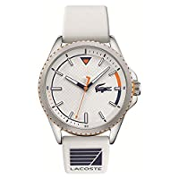 Lacoste Cap Marino Men's White Dial Silicone Watch - 2011028