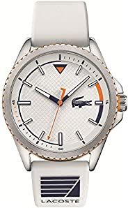 Lacoste Cap Marino Men's White Dial Silicone Watch - 201