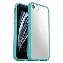 OtterBox Sleek Case, Streamlined Protection for Apple iPhone 7/8 & iPhone SE (2020) - Blue/Clear - Non-Retail Packaging