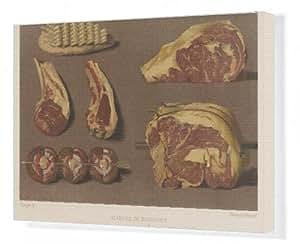 Toile de plusieurs morceaux de viande