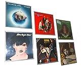 6er Set Schallplattenrahmen Albumrahmen - Bilderrahmen für heissgeliebte LP Plattencover, silber