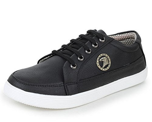 Trase Men's Italo Black Casual Sneaker Shoe