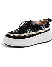 Sneakers Transpirable Plataforma Cuña para Mujer,MWOOOK-843 Mujer Mocasines Plataforma Loafers Zapatos de