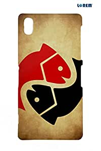 Lorem Back Cover For Sony Xperia Z2 (L50t)-Black & Red-L27813