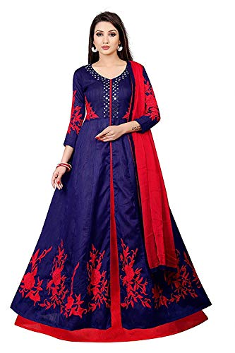 Queen of India Taffeta Silk Embroidered Semi-Stitched Anarkali Salwar Suits | womens party wear | Today preminum new Salwar Suits | new design collection 2018 | new design dress